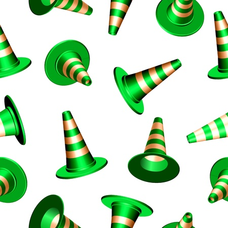 traffic cones with round base texture, abstract seamless pattern,  art illustration Stock Illustratie