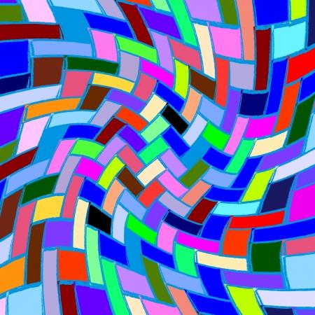 contorto modello quadrato, texture astratta, illustrazione arte