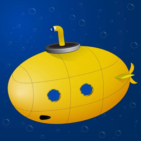 yellow submarine, abstract vector art illustration; image contains transparency Stock Vector - 14656164