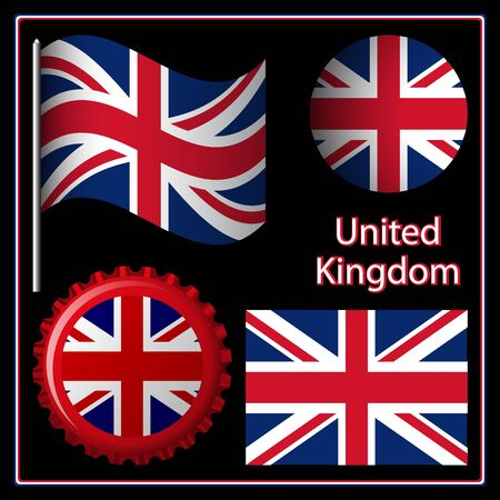 england graphic set against black background; image contains transparency Vector