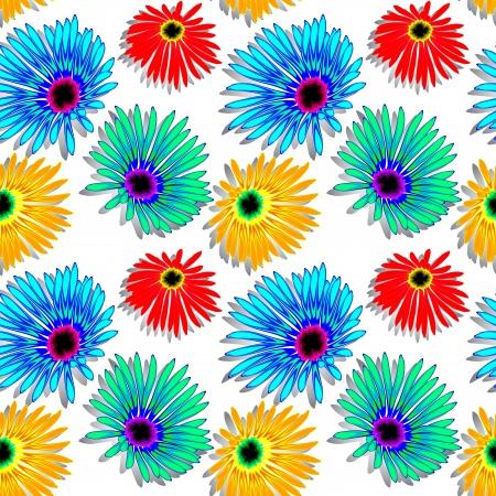 flowers shadowed texture, abstract seamless pattern; vector art illustration 일러스트