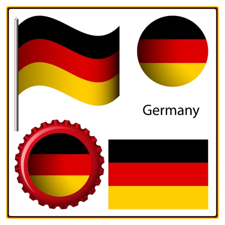 germany graphic set against white background, vector art illustration; image contains transparency