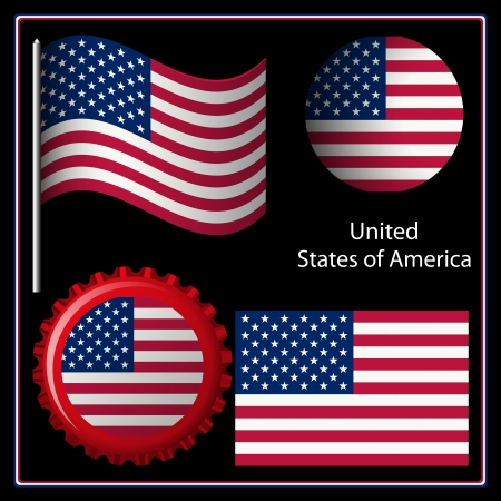us graphic set against black background; image contains transparency Vector