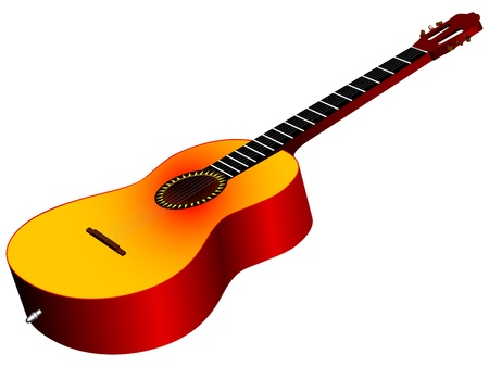 3d acoustic guitar against white background, vector art illustration Stock Vector - 15683567