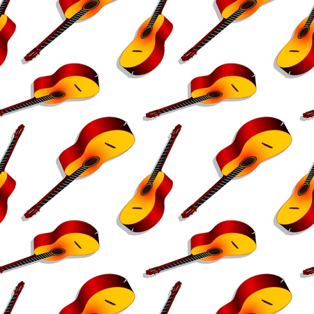 classic guitars pattern, abstract seamless texture; vector art illustration Stock Vector - 15683545
