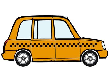 carting: taxi, coche con llantas de aleaci�n contra el fondo blanco, ilustraci�n de arte abstracto vector