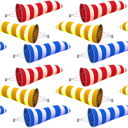 windsock pattern, abstract seamless texture, art illustration Vector