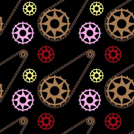 circus bike: mec�nico de bicicletas patr�n, textura incons�til abstracta; ilustraci�n vectorial arte