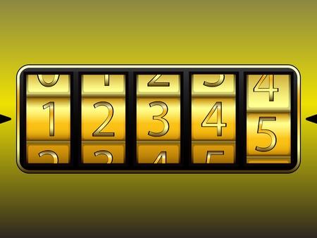 digit locker, abstract vector art illustration Stock Vector - 17721979