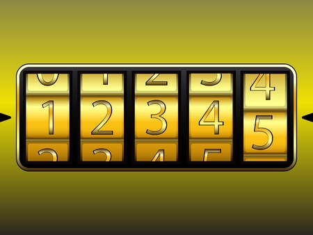 secret number: digit locker, abstract vector art illustration  Illustration