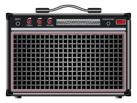 electric guitar amplifier against white background, abstract vector art illustration; image contains transparency Stock Vector - 17721991
