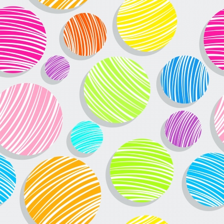 light colorful bubbles pattern, abstract seamless texture; vector art illustration