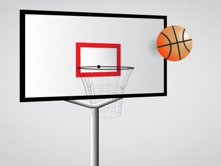 basketball hoop, abstract vector art illustration; image contains transparency