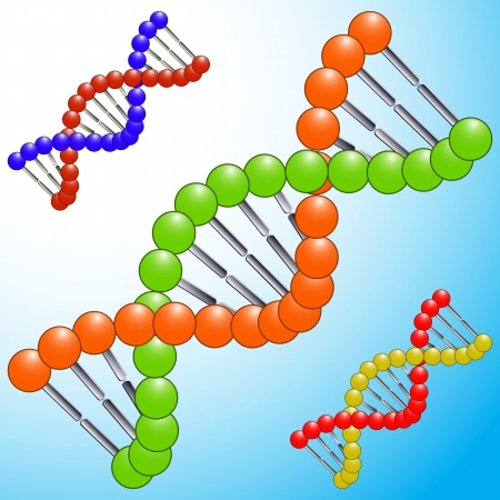 dna icons, abstract vector art illustration Vector