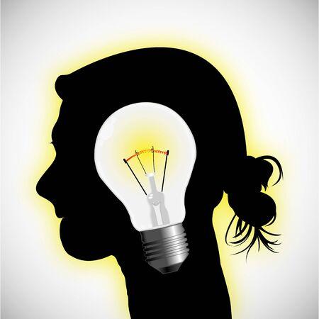 human idea concept, abstract vector art illustration Stock Vector - 17984717