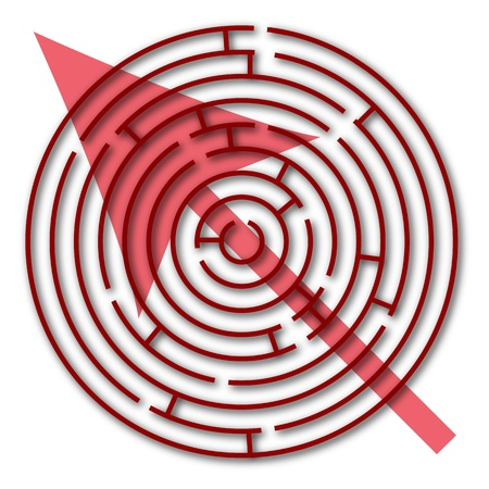maze with direction against white background, abstract vector art illustration Banco de Imagens - 17984759