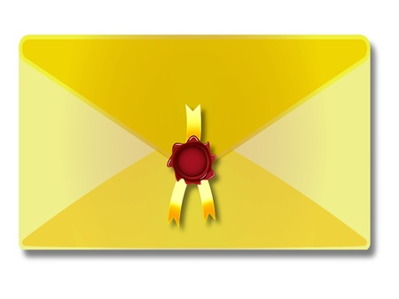 retrospect: sealed envelope against white background, abstract vector art illustration; image contains transparency