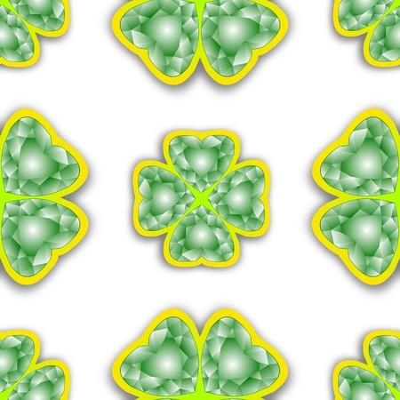 shamrock seamless: shamrock diamonds pattern, abstract seamless texture; vector art illustration Illustration