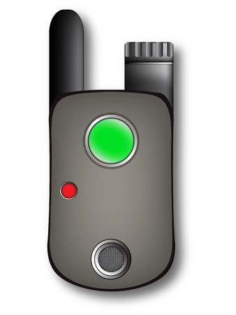 walkie talkie against white background, vector art illustration; image contains transparency Vector