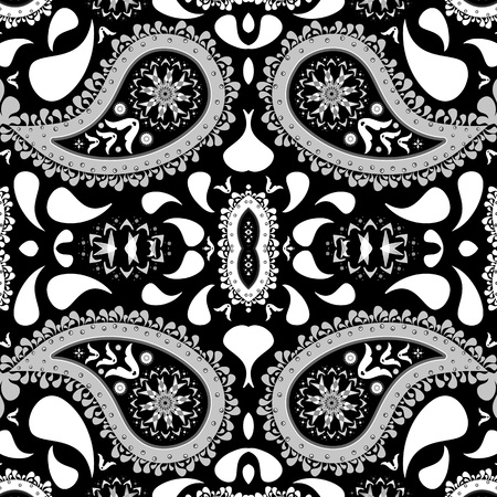 paisley background, abstract seamless texture, art illustration