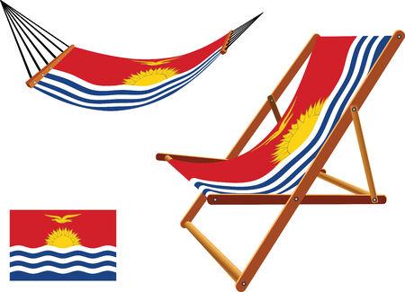 transat: Kiribati hamac et chaise longue s�rie sur fond blanc, vecteur abstract art illustration