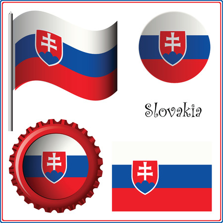 slovakia graphic set against white background, vector art illustration; image contains transparency  イラスト・ベクター素材