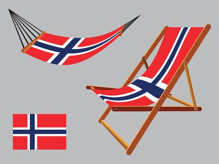 transat: Svalbard hamac et chaise longue plac�e sur fond gris, illustration vectorielle art abstrait Illustration
