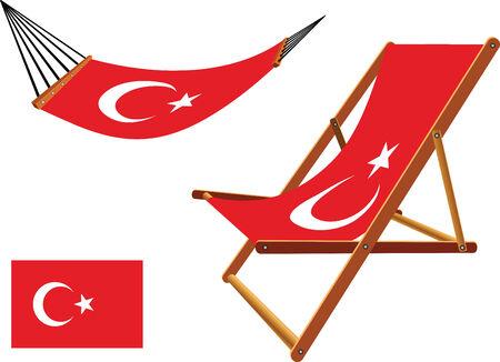 transat: dinde hamac et chaise longue s�rie sur fond blanc, vecteur abstract art illustration Illustration