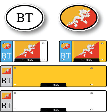 licence: bhutan auto set against white background, abstract vector art illustration, image contains transparency Illustration