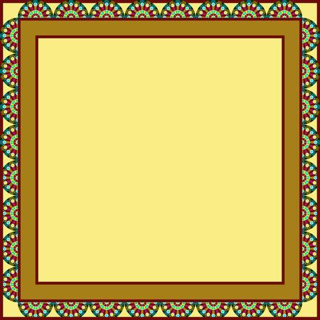 circles framed background, abstract vector art illustration
