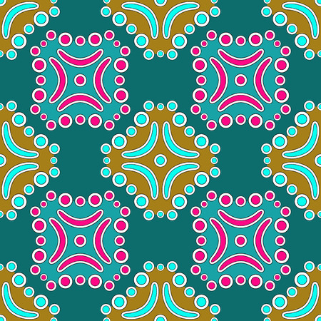 ornamental traditional pattern, abstract seamless texture, vector art illustration