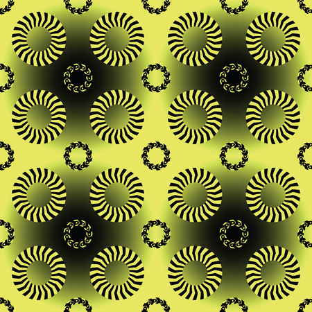 stripes and circles pattern, abstract seamless texture, vector art illustration