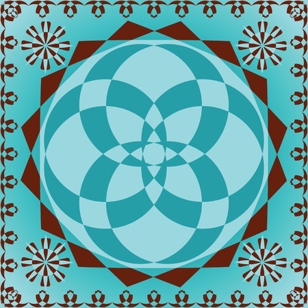 traditional ornamental background, abstract seamless texture; vector art illustration