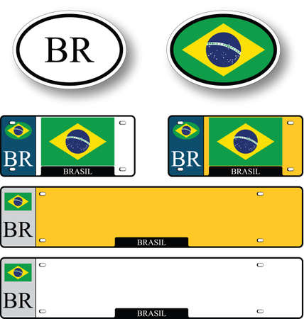 brasil auto set against white background, abstract vector art illustration, image contains transparency