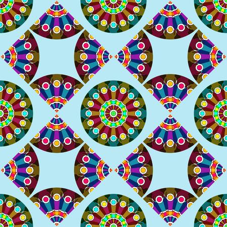 circles abstract texture, seamless pattern, vector art illustration