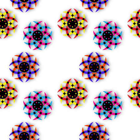 shadowed shapes pattern, abstract seamless texture, vector art illustration, image contains transparency Illusztráció