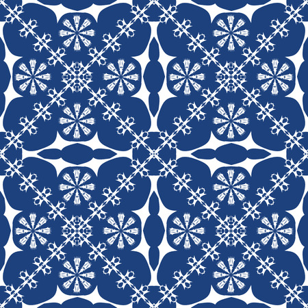 traditional blue background, abstract seamless texture; vector art illustration