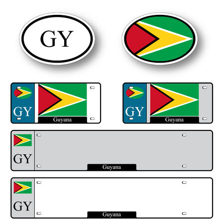 georgetown: guyana auto set against white background, abstract vector art illustration, image contains transparency Illustration