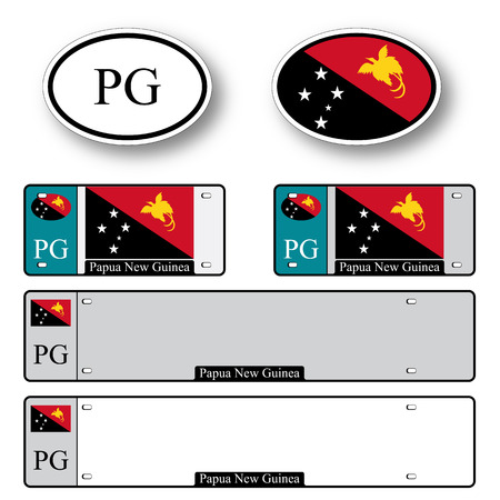 papua new guinea auto set against white background, abstract vector art illustration, image contains transparency