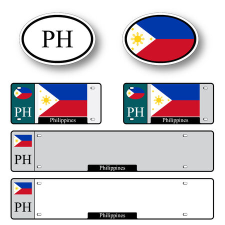 philippines auto set against white background, abstract vector art illustration, image contains transparency 向量圖像