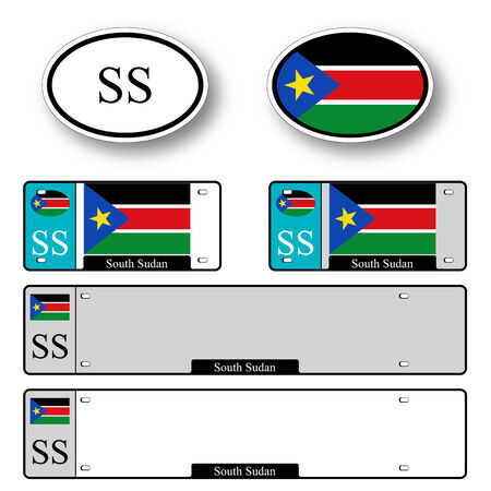 south sudan: south sudan auto set against white background, abstract vector art illustration, image contains transparency