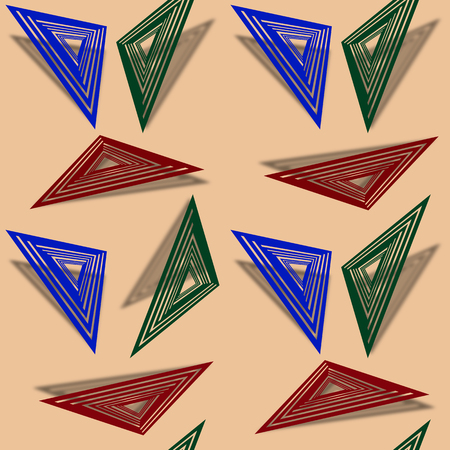 shadowed: triangles shadowed background, abstract seamless texture, vector art illustration, image contains transparency