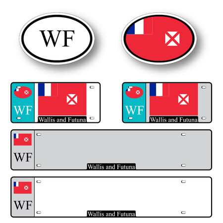 licence: wallis and futuna auto set against white background, abstract vector art illustration, image contains transparency Illustration