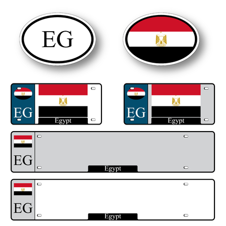 licence: egypt auto set against white background, abstract vector art illustration, image contains transparency Illustration