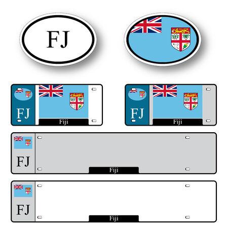 fiji: Fiji auto tegen een witte achtergrond, abstract vector kunst illustratie, afbeelding transparantie bevat