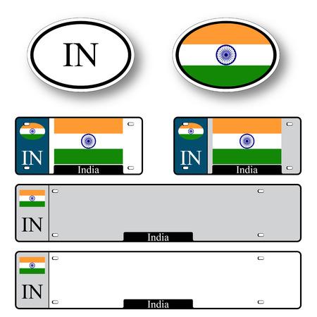 인도 자동 흰색 배경, 추상적 인 벡터 예술 일러스트 레이 션에 대 한 설정, 이미지 투명도 포함