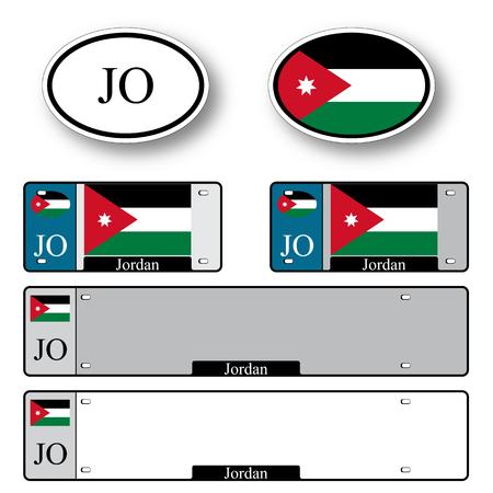 jordan auto ingesteld tegen een witte achtergrond, abstracte vector kunst illustratie, afbeelding transparantie bevat