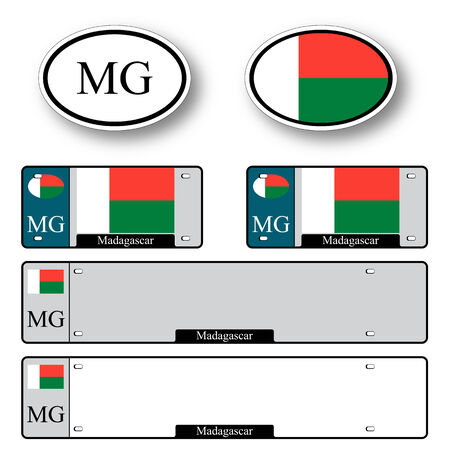 licence: madagascar auto set against white background, abstract vector art illustration, image contains transparency Illustration