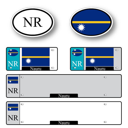 licence: nauru auto set against white background, abstract vector art illustration, image contains transparency Illustration
