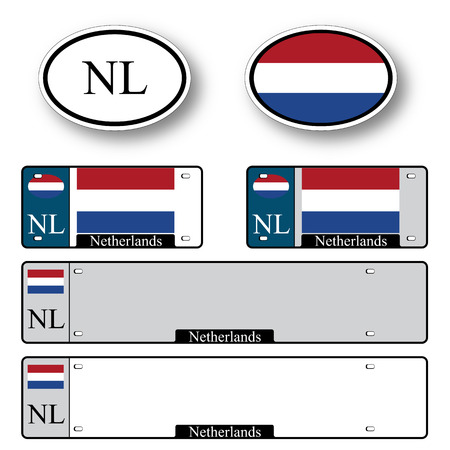 netherlands auto set against white background, abstract vector art illustration, image contains transparency 向量圖像